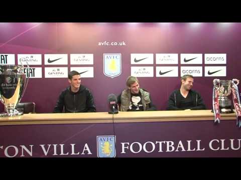 Aston Villa players quizzed in press conference