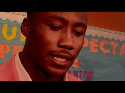 BRANDON MARSHALL TALKS TO STUDENTS AT UCAN ACADEMY