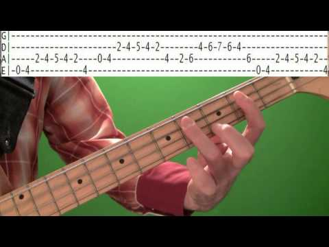 Bass Guitar Lessons - Rockabilly Blues Bassline With Tabs video