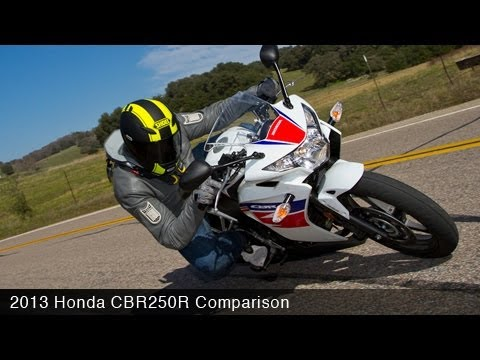 MotoUSA Comparison: 2013 Honda CBR250R Video