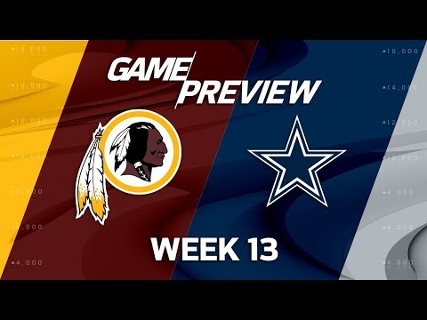 Washington Redskins vs. Dallas Cowboys | NFL Week 13 Game Preview | Film Review