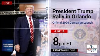 President Trump Holds MASSIVE Rally in Orlando, FL 2020 Campaign Launch 61819