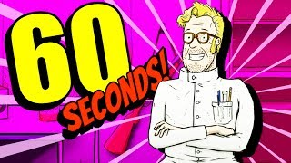 The SECRET SPACE SHIP and CRAZY SCIENTIST ENDING! - 60 Seconds Gameplay