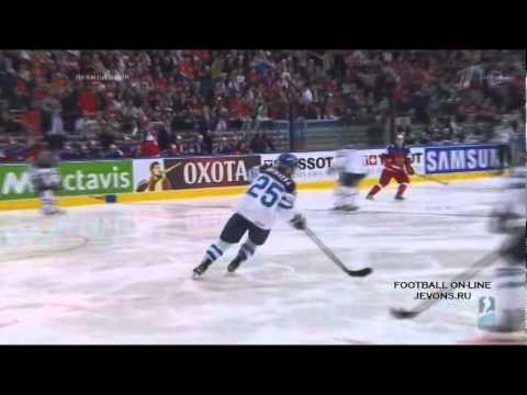 Финляндия - Россия   2-4. Все голы. Чемпионат мира по хоккею 2014.