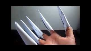 How To Make Tutorial: Paper Wolverine Claw