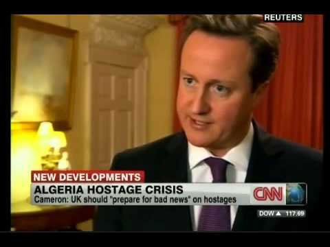 Algeria Gas Field Siege PM Cameron: 17/01/2013