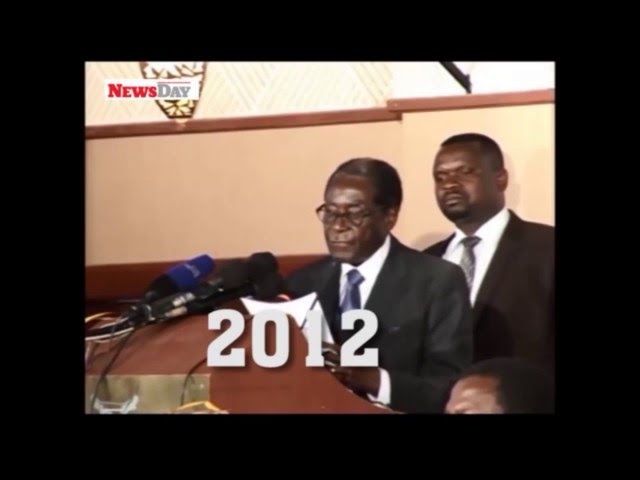President Mugabe sleeping, urinating and falling