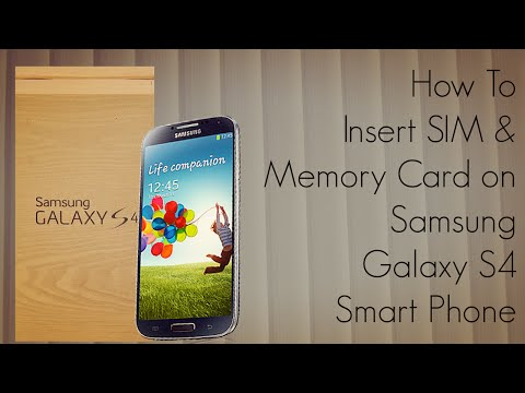 How To Insert SIM & Memory Card on Samsung Galaxy S4 Smart Phone