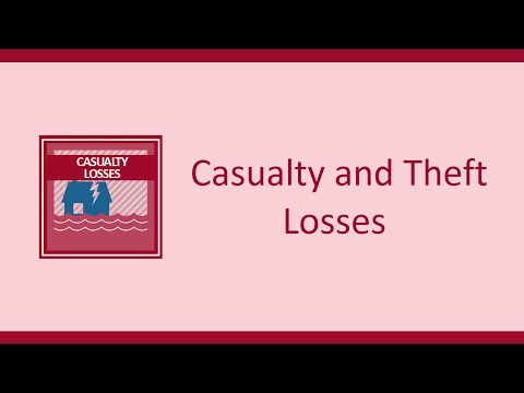 Casualty and Theft Losses