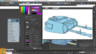 Tutorial Ink Material 3ds max in Italiano
