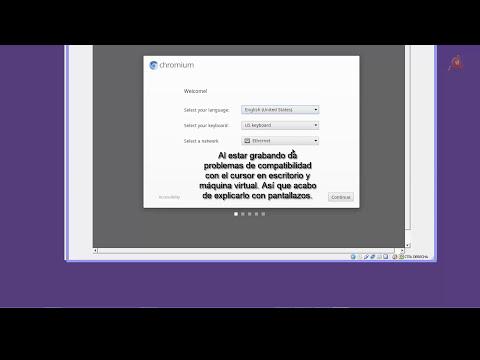 Instalar Chrome OS, el sistema operativo de Google en un PC.