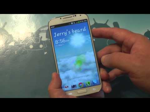 How to change the lock screen message on the Galaxy S4