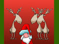 Christmas funny deer + Santa singing Basketcase by Greenday