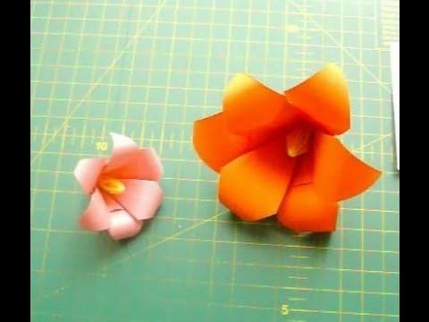 Как сделать оригами цветок из бумаги своими