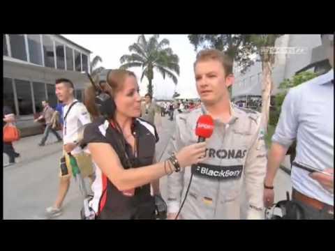 F1 Malaysian GP 2013 - Nico Rosberg On Mercedes Team Orders