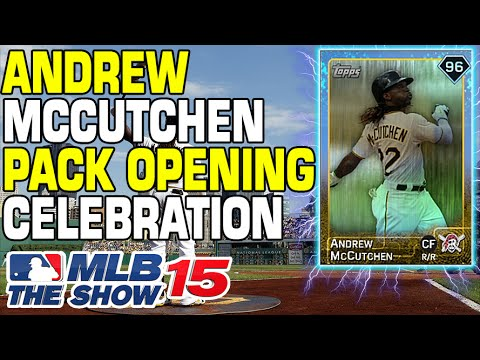 MLB 15' Andrew McCutchen Celebration Pack Opening