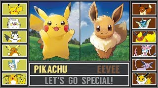 Team Pikachu vs. Team Eevee (Pokémon Let's Go Special)
