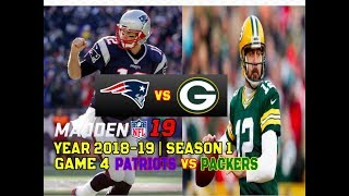 Madden 19 | S1 Game 4 | Patriots vs Packers (Dec. 17, 2018)