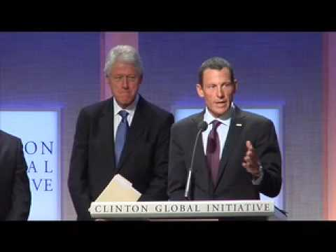Lance Armstrong at the Clinton Global Initiative