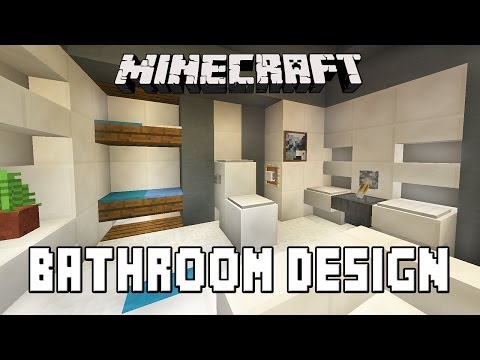 Minecraft modern bathroom bedroom designs for Bathroom designs minecraft