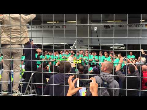 Mercedes celebration F1 Grand prix Austria 2015