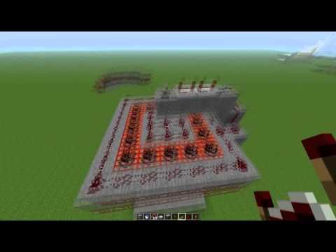 Minecraft Tutorial de Redstone: Cañon en area o multiple HD 720p