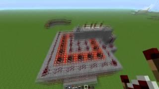 Minecraft - Tutorial de Redstone: Cañon en area o multiple (HD 720p)