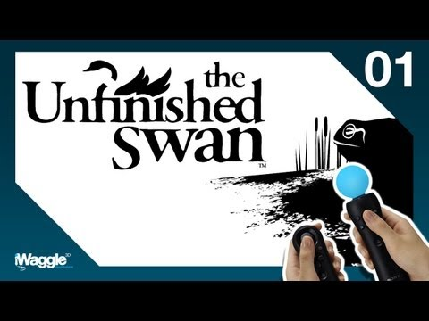 The Unfinished Swan PS Move Walkthrough - Part 1/4 [Chapter 1] The Garden