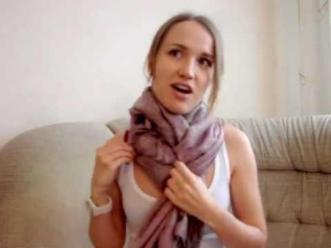 Видео как завязать шарф