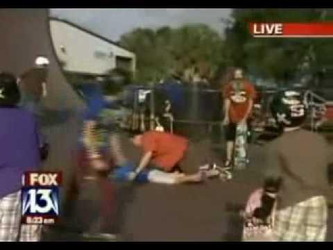 blooper funny news bloopers news reporter chuck storm accident blooper