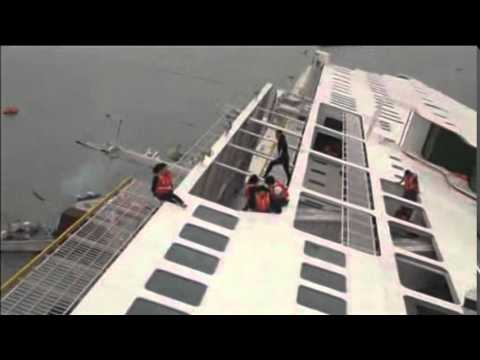 Aerial Footage Of Sunken Ferry Off South Korea