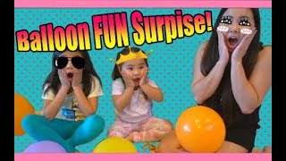 SURPRISED KYLIE WITH 70+ BALLOON FUN TIME!!!BALLOON TOYS HUNT!!!