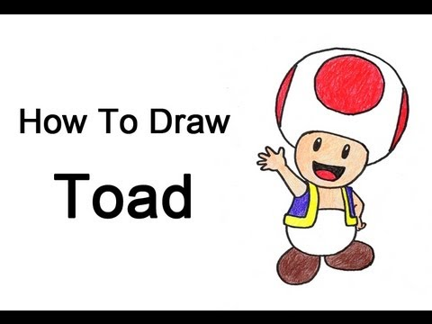 How To Draw Mario Characters Step By Step For Kids How to Draw Toad (Nint...