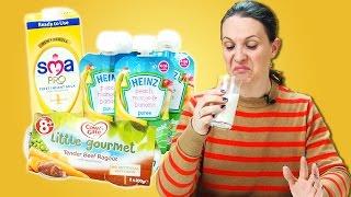 Mothers Taste Test Baby Food