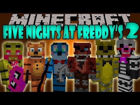 FIVE NIGHTS AT FREDDY'S 2 MOD - Los Nuevos Animatronics - Minecraft mod 1.7.10 Review ESPAÑOL