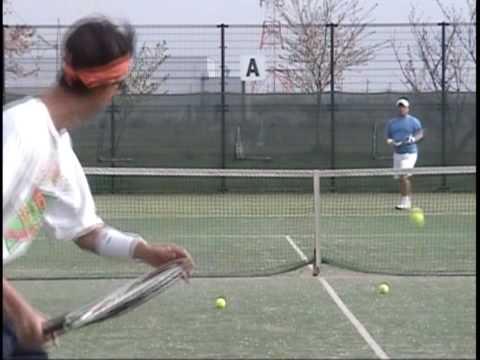100410 Ex G テニス Team Practice 1/5 Omni(Turf&Sand) Court