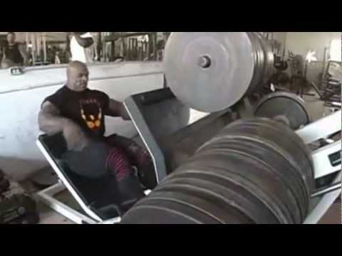 Ronnie  Coleman work leg press Image 1