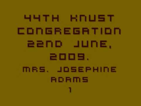 44th Knust Congregation 100622-2 Josephine Adams Motivation 1 video
