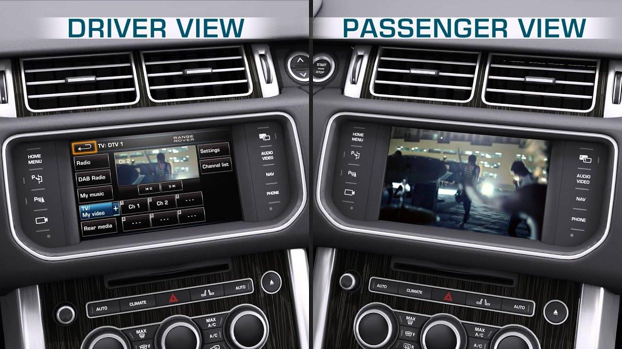 Range Rover Evoque 2013 >> 13MY Range Rover: Dual View Screen - YouTube