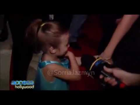 Jazmyn Bieber and Selena Gomez at Hotel Transylvania Premiere (with audio)