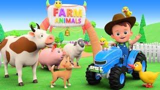 Old MacDonald Nursery Rhymes & Kids Songs | Farm Animals Feeding