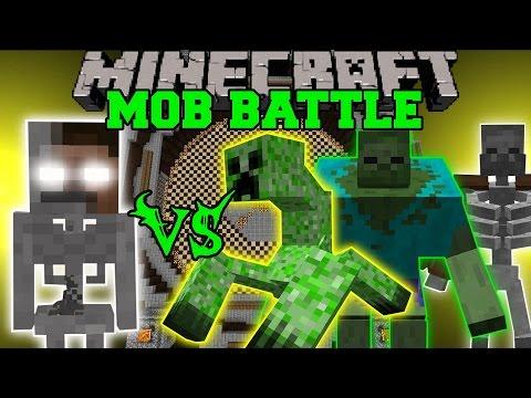 SKELEBRINE VS MUTANT CREATURES Minecraft Mob Battles Minecraft Mods