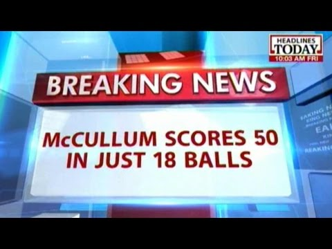 Brendon McCullum Smashes Fastest 50 in World Cup History