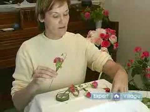 How to Make Flower Arrangements for Weddings : Part 1: How to Make a Mini Rose Wedding Corsage