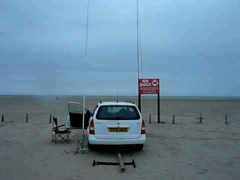 working portable at ainsdale beach