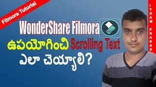 how to create or add scrolling text to youtube video using wondershare filmora   subtitle tips