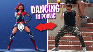 Fortnite Dancing in Public