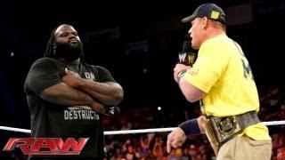 Mark Henry gets the better of John Cena: Raw, July 8, 2013