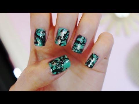 Turquoise Stone Nails!