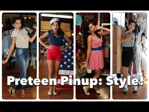 Preteen Pinup Part Three: Back To School Style! By Cherry Dollface video